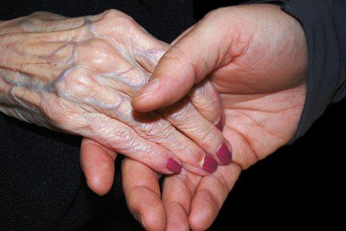 piel manos viejas